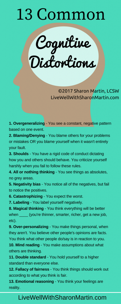 13 Common Cognitive Distortions