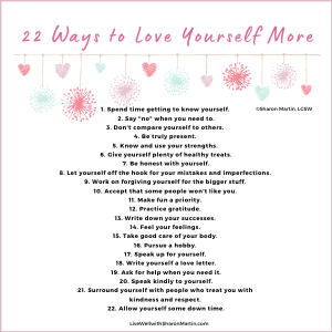 22 Ways to Love Yourself More self-love