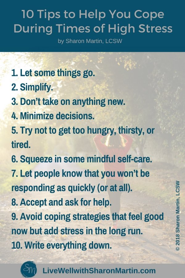 10 Tips to Help You Cope During Times of High Stress