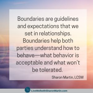 Boundaries are self-care