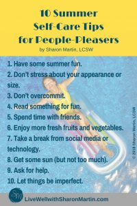 Summer Self Care Tips for People-Pleasers