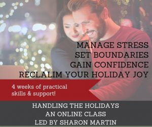 Handling the Holidays online codependency group #holiday #support #online #class #codependency #stress