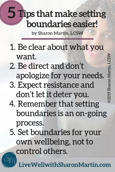5 Tips for setting boundaries with ease