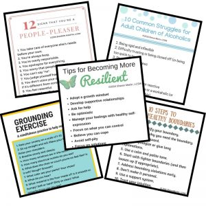 mental wellness tips worksheets