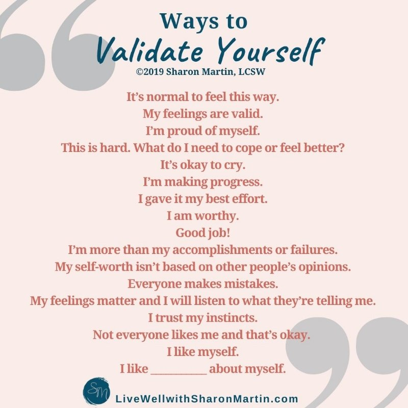 Ways to validate yourself
