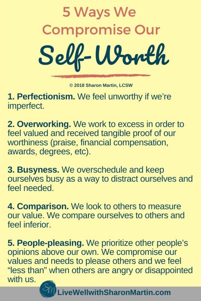 5 Ways We Compromise our Self Worth