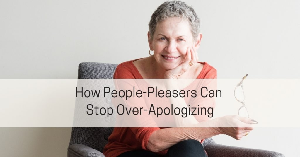 stop over apologizing