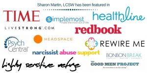 logos of publications featuring Sharon Martin
