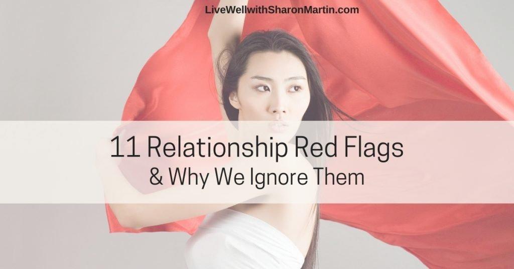 woman waving red flag
