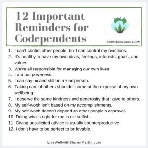 tips to change codependent thinking