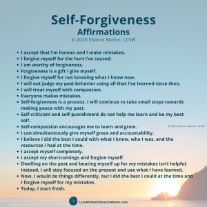 self-forgiveness affirmations