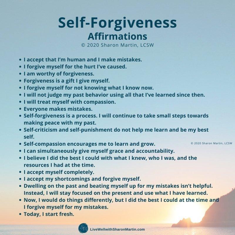 self-forgiveness affirmations