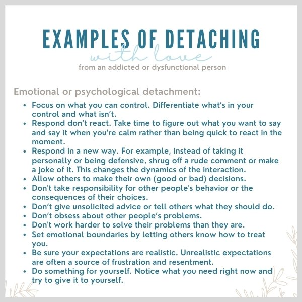 Examples of detaching with love