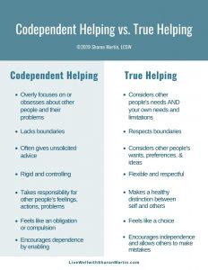 codependent helping enabling