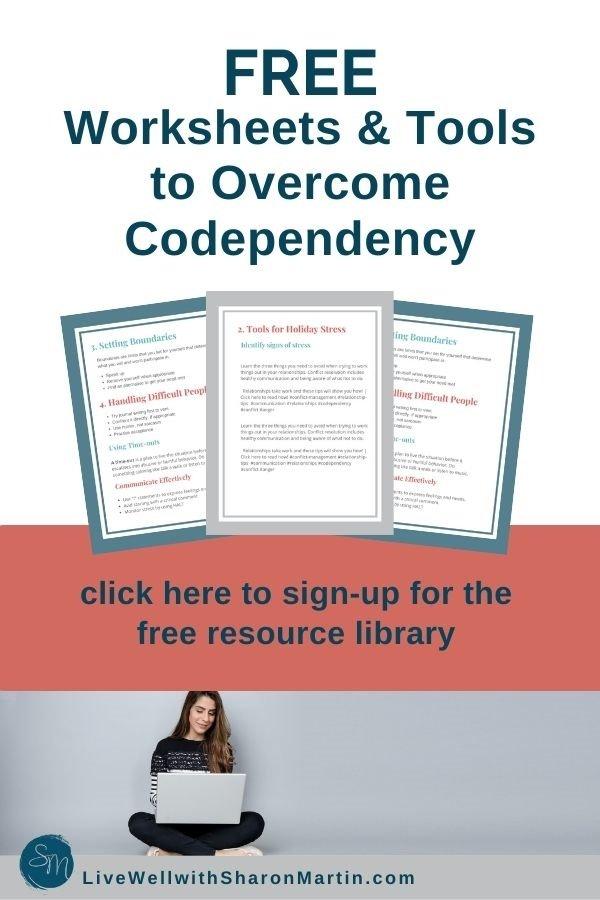 Free codependency worksheets
