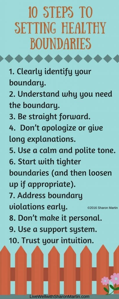 10 steps to setting healthy boundaries