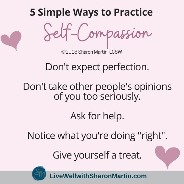 5 simple ways to practice self-compassion