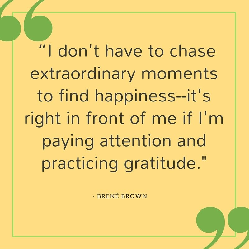 Brene brown quote about gratitude