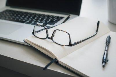 computer glasses journal