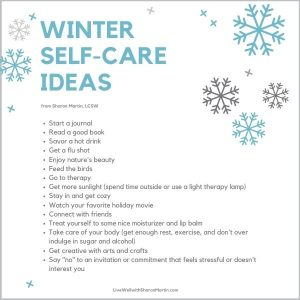 Winter self-care ideas